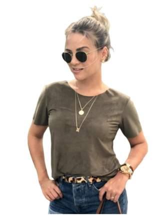 Blusinha t-shirts suede roupas moda feminina