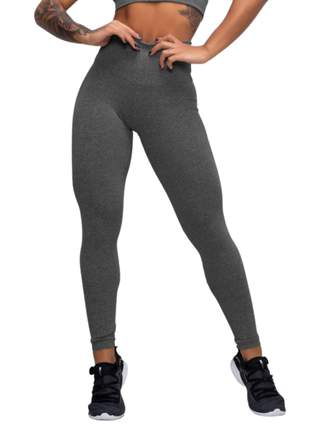 Calça legging feminina preta ou mescla cintura alta cós duplo atacado grossa