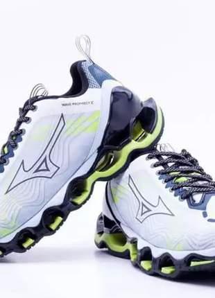 Tênis mizuno wave prophecy x lançamento, cor verde (para corrida, para caminhada