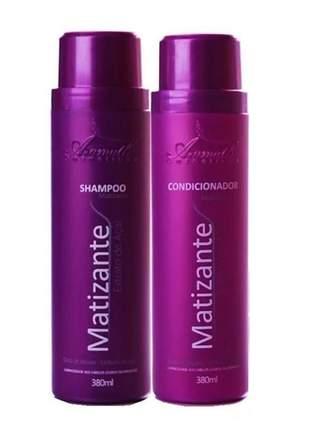 Kit matizante aramath extrato de açaí shampoo e condicionador 380ml