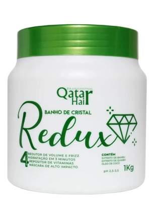 Hidratação instantânea banho de cristal redux qatar hair 1kg