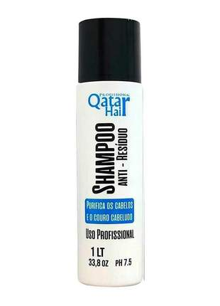 Shampoo antirresíduo qatar hair profissional 1000ml