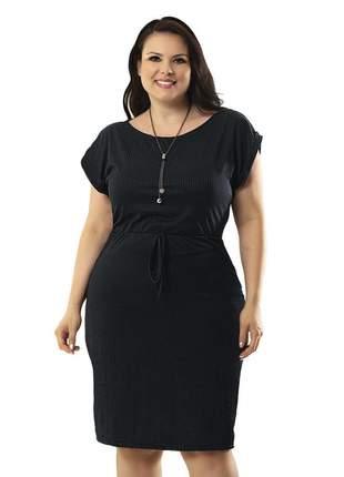 Vestido plus size justo tubinho evangelico preto