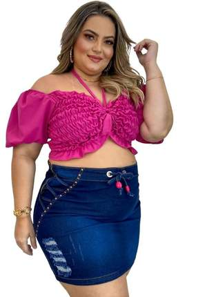 Saia jeans plus size dolce sedutti s01