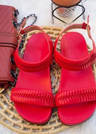 Sandália feminina birken papete vermelha