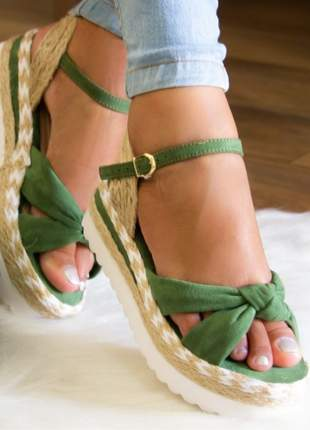 Sandália flatform kate verde