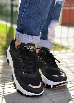 Tênis feminino prada tratorado chunk,block, (casual combina com saia),