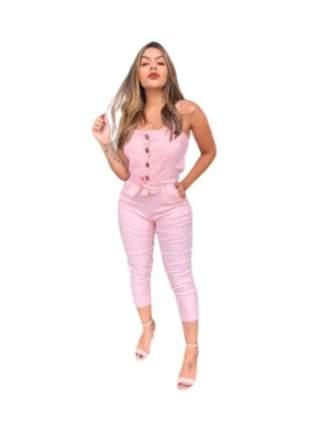 Macacão pantacur alcinha acinturado moda instagram blogueirinha