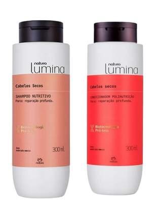 Natura lumina shampoo + condicionador, para cabelos secos