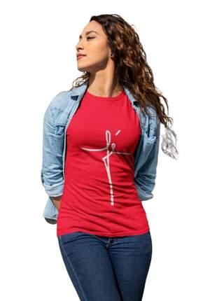 Camiseta baby look fé personalizada moda evangélica