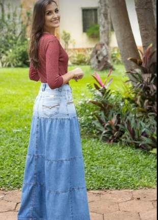 Saia jeans longa3 marias roupa evangelica
