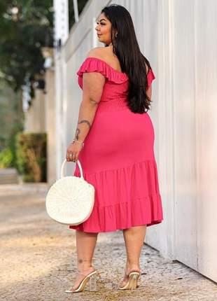 Vestido de festa ciganinha plus size