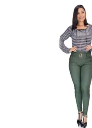 Calça feminina com cinto moda instagram roupas femininas