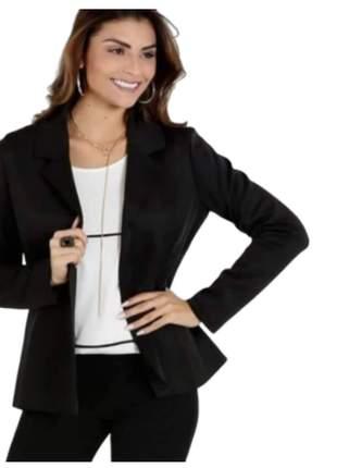 Blazer a cinturado neopreme roupas moda femininas