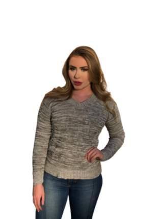 Blusa manga longa de tricô roupas moda feminina