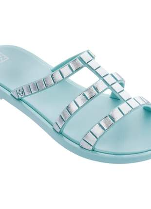 Sandália feminina zaxy go shine verde acqua