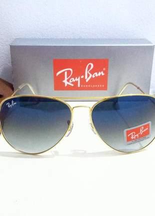Óculos de sol ray ban aviador m ou g unissex 6 cores disponível
