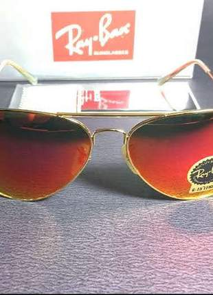 Óculos de sol ray ban aviador m ou g unissex 5 cores disponível