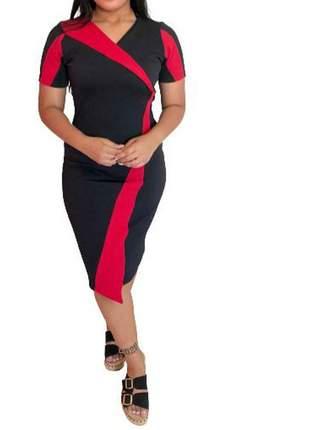 Vestido feminino moda evangélica tubinho social ref 672