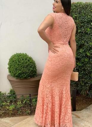 Vestido madrinha rendado
