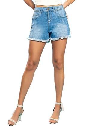 Short jeans feminino destroyed endless azul