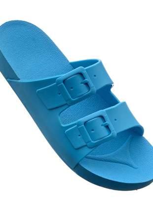 Birken papete sandalia chinelo verão azul turquesa