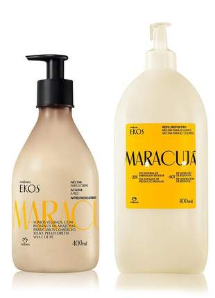 Conjunto ekos maracujá hidratante + refil 400ml cada