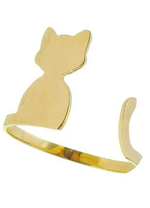 Anel gato banhado a ouro - falange