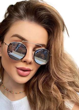 Óculos sol feminino redondo blogueiras viale original