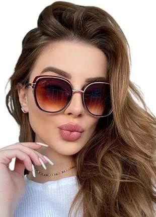 Óculos de sol feminino viale original quadrado luxo