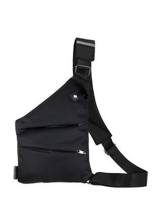 Bolsa bag pochete transversal slim impermeável r:1083 (preto)