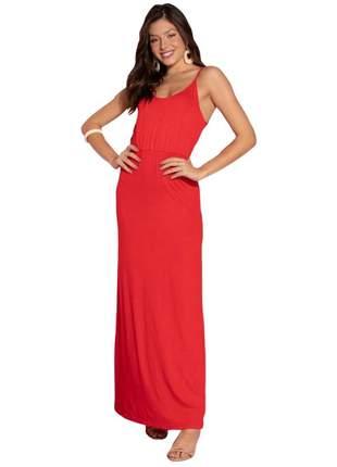 Vestido cine longo vermelho quintess