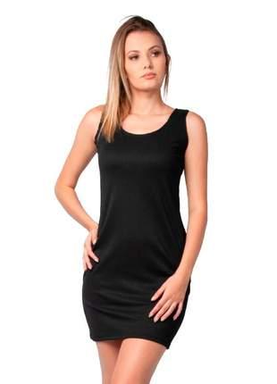 Vestido feminino curto canelado sem manga part.b