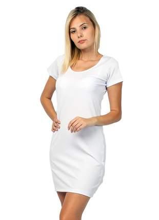 Vestido feminino curto canelado manga curta part.b