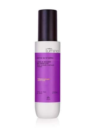 Leave-in matizador multibenefícios cabelos loiros e grisalhos lumina - 150ml