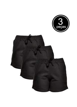 Kit com 3 shorts style feminino part.b