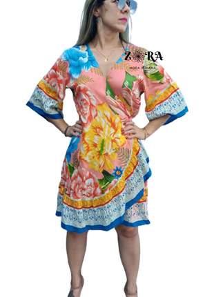 Vestido kimono indiano saida de praia