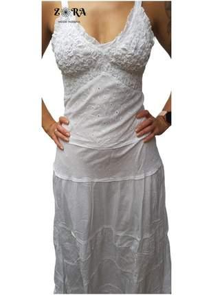 Vestido indiano algodão longo