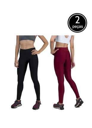 Kit com 2 calças legging básica suplex