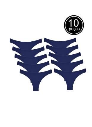 Kit com 10 calcinhas conforto de algodão modelo tanga part.b