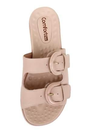 Chinelo ortópedico birken nude couro  feminina comfortflex 2145404