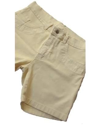 Bermuda jeans ciclista amarelo