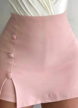 Saia short bergalini moda feminina blogueira curta