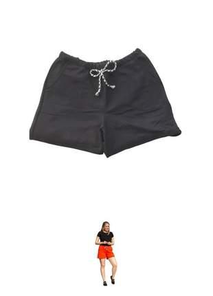 Bermuda/ short molecotton com bolso e amarração na cintura