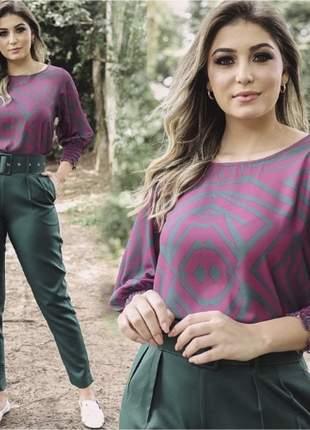 Calça social feminina alfaiataria jade