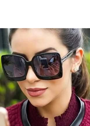Óculos quadrado estiloso feminino preto moderno grande lindo