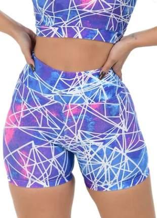 Kit 3 shorts cos alto meia coxa para academia, natação, praia, piscina.