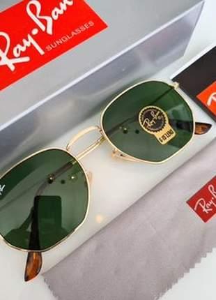 Óculos de sol ray ban hexagonal rb 3548 unissex 6 cores disponivel