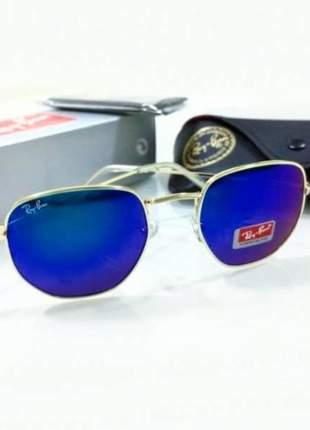 Óculos de sol ray ban hexagonal rb 3548 unissex 2 cores disponivel
