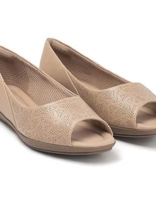 Sapato Peep Toe Piccadilly Joanete Nude 103015-1